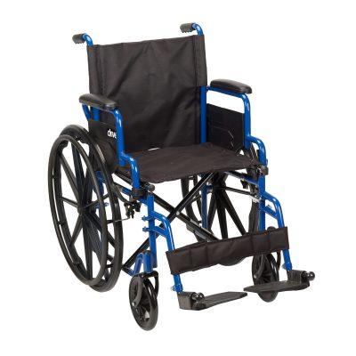 Blue Streak Wheelchair with Flip Back Desk Arms bls20fbd-sf