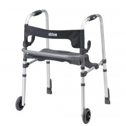 Clever Lite LS Walker Rollator with Seat and Push Down Brakes 10233
