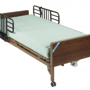 Delta Ultra Light Full Electric Hospital Bed with Half Rails and Innerspring Mattress 15033bv-pkg-1