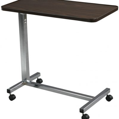 Non Tilt Top Overbed Table, Chrome 13003