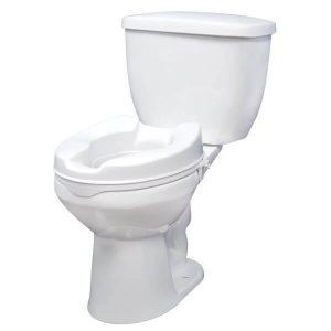 Raised Toilet Seat with Lock, Standard Seat, 4″ rtl12064_1